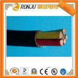Collegare elettrico flessibile isolato PVC solido del cavo di rame della prova di fuoco del conduttore 4mm2 di singola memoria