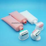 Plastic Kosmetische Ovale Buis met de Rol van het Silicium van het Metaal en Instrument van de Borstel van het Silicium het Zachte