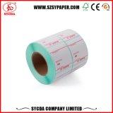De alto brillo de papel térmico de etiqueta auto adhesiva para caja registradora