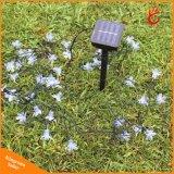 屋外のための50のLEDsのモモの花太陽ランプ力LEDストリング豆電球の花輪Gardenlight