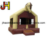 Kundenspezifisches aufblasbares Zoo-Haus-Thema-federnd Schloss für Verkauf