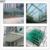 vidro laminado moderado segurança de 6mm para o edifício