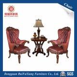 Stoel van het Leer van de Woonkamer van Ruifuxiang de Rode met het Hoge Elastische Vullen van de Spons (W215)