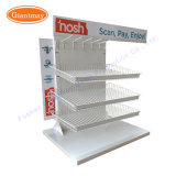 Comptoir de vente à chaud des aliments de collation Panier en fil de fer suspendus au chocolat Présentoir pour magasin de détail