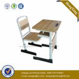 Escola ajustável de mesa e cadeira móveis para High School (HX-5D184)
