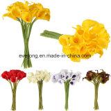 Künstliche weiße und purpurrote Calla-Lilien-künstliche Blumen-reale Notepreiswerte Calla-Lilien-Blumen