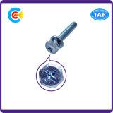 DIN/ANSI/BS/JIS Kohlenstoffstahl/aus rostfreiem Stahl Kreuz außerhalb des sechseckigen elektrischen Geräts schält Schrauben