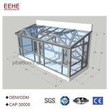Un verre de sécurité Villa véranda en verre profilé en aluminium pour les loisirs La vie