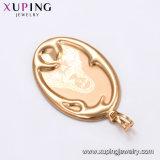 32092 El encanto de la moda Xuping Gold-Plated 18K Collar Colgante Moon-Shaped Bisutería