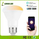Br20 8W APP Luz controlada E26 Smart WiFi lámpara ajustable con blanco (2000K-6500K)