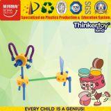 brinquedos plásticos da exploração agrícola de animais da instrução DIY dos brinquedos das crianças do enigma 3D