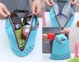 Poche portative de sac de pique-nique de mémoire d'emballage isolée par refroidisseur thermique de cadre de déjeuner de tirette