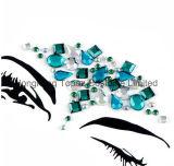 Новый акриловый полимер Блестящие цветные лаки клей с ювелирной Rhinestone Jewel фестиваль сторона тела Наклейки Tattoo лицевой стороной и глаза на наклейке (SE100)