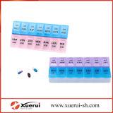 14 casos pílula de plástico Caixa do Organizador, Medicina restante com tampas