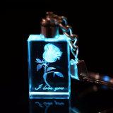 Подарок сувенир цепочки ключей персик сердце Crystal I Love You цепочки ключей пары группа яркие мигающие светодиодные индикаторы Chaveiros Llavero