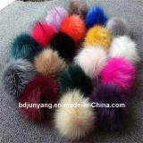 Шарик шерсти шерсти POM POM Fox привесной Азии женщин волосатый