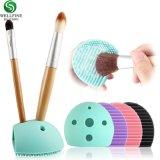 Цветные косметические средства силикон макияж щетки очистителя блока скруббер с отверстием