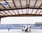 鉄骨構造の組み立てられた航空機の格納庫、デッサンが付いている構造スチールの平面のガレージ