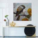 壁の芸術のためのハンドメイドの現代鳥のナイフの油絵