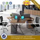 Partition en bois de bureau des meubles 2 de poste de travail moderne de portées (HX-8N2629)