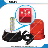 Bernsteinfarbige Farbe 12V-24V 5730LED drehende/blinkende magnetischer niedriger Cigarettel Stecker-Warnleuchte erleuchtet (TBL 45)