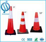 Cone quadrado reflexivo do tráfego de EVA
