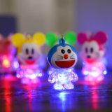 La torcia elettrica di Doraemon LED illumina in su Keychain