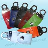 Movimentação elegante do flash do USB do couro (ALP-027U-1)