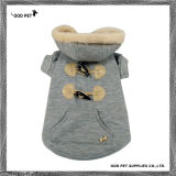 Серый мех собаки худи теплой зимой собака пальто Spj6021-2