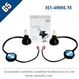 Lámpara de la niebla de la linterna de Lmusonu G5 H3 LED con el ventilador que refresca la luz de niebla de 9-36V 40W 4000lm