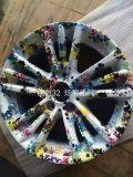 пленки печатание перехода воды картины цветка 1mwidth Gemetry для частей автомобиля и напольного Itemsbdn1029-1