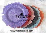 Chargeur de plaques de verre d'éponge pour les mariages par Tylors de verre, de diverses couleurs métalliques