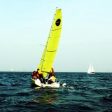 Open Transom Sport Keelboat Sailboat with Carbon Mast