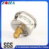 高精度1.6%のミニチュアのSsの箱の真鍮のコネクター10barが付いている液体によって満たされる圧力計