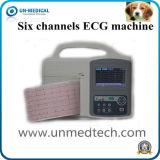 6 canais de alta qualidade Digital Portátil Vet Máquina de ECG