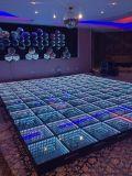 Discoteca de boda Alquiler de sala de túnel del tiempo espejo LED 3D de pista de baile para la venta