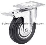 3-8 인치 산업 까만 고무 회전대 피마자 바퀴