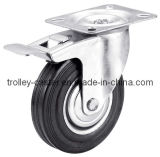 3-8 roue en caoutchouc industrielle de chasse de pouce