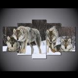 HD는 화포 룸 훈장 인쇄 포스터 그림 화포 Mc 018에 울프 팩 눈 동물성 색칠을 인쇄했다