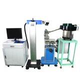 El sistema de la marca del grabado del laser de la fibra ensambla la línea el introducir automático