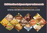 De Aanhangwagens van de hamburger voor de Kokende Aanhangwagens van de Verkoop met Facultatieve Kokende Apparatuur