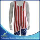Haut de la Compression de sublimation fait sur mesure Premium, hommes et femmes de lutte maillots de corps