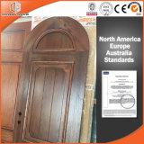 Porte normale nord-américaine en bois solide pour la Chambre de villa et de luxe