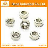 Écrou borgne de bonne qualité de l'acier inoxydable solides solubles 304 M2-M16 K