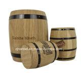 Tambor de madeira do carvalho feito sob encomenda do logotipo para o chá dos doces do café