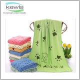 Suave flor patrón impreso toalla de baño con diferentes colores