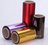 PET metalizado colorido film para embalaje
