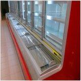 Congelador inferior da caixa da porta de vidro de deslizamento do refrigerador de vidro superior da porta do balanço