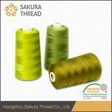 Vente en gros de fils en polyester teintés Oeko-Tex 100% pour fil de couture
