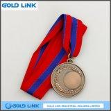 Médaillon fait sur commande de récompense de pièce de monnaie d'enjeu de bâti de médaille en bronze antique en métal